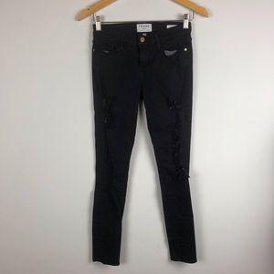 Frame black skinny jeans size 26